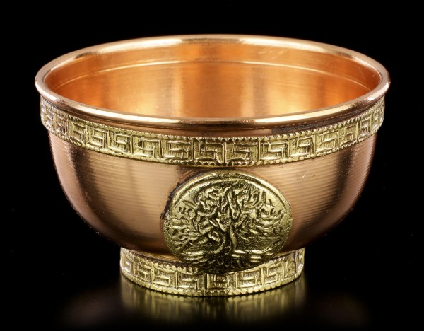 Ritual Copper Bowl with Tree of Life small