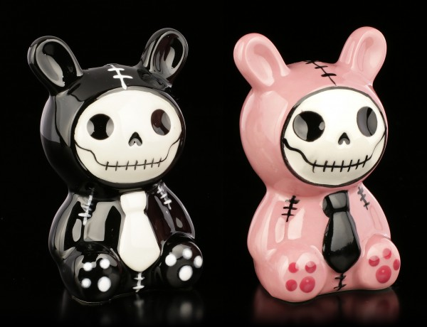 Furry Bones Salt and Pepper Shaker - Bun-Bun pink