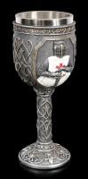Knights Goblet - Crusader holds Sword