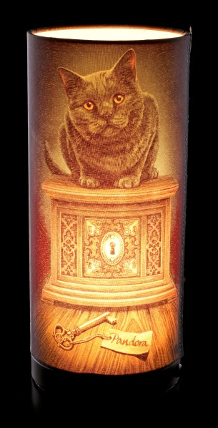 Table Lamp with Cat - Pandoras Box