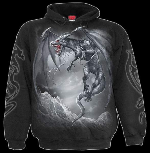 Drachen Kapuzenpullover Gothic - Dragon's Cry