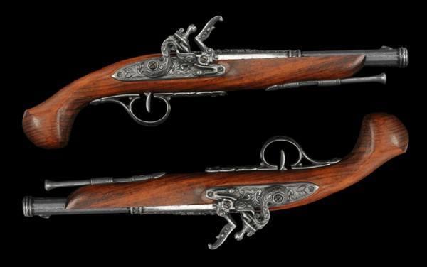 Steinschloßpistolen - Duell Set