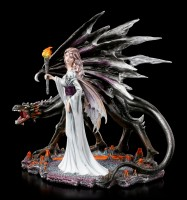 Dragon Figurine and Fairy Lara with Torch