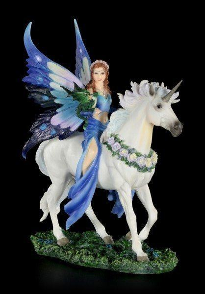 Fairy Figurine on Unicorn - Realm of Enchantment