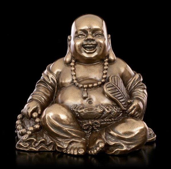 Sitting Buddha Figurine with Beads