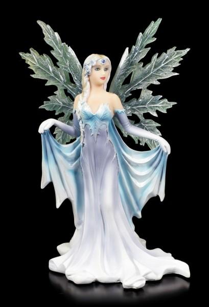Winter Elfen Figur - Hibernia mit Eisflügeln