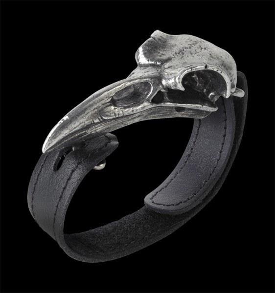 Alchemy Leder Armband - Raben Schädel