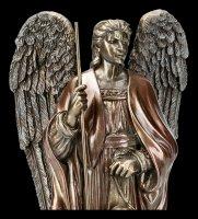 Erzengel Raphael Figur auf Podest