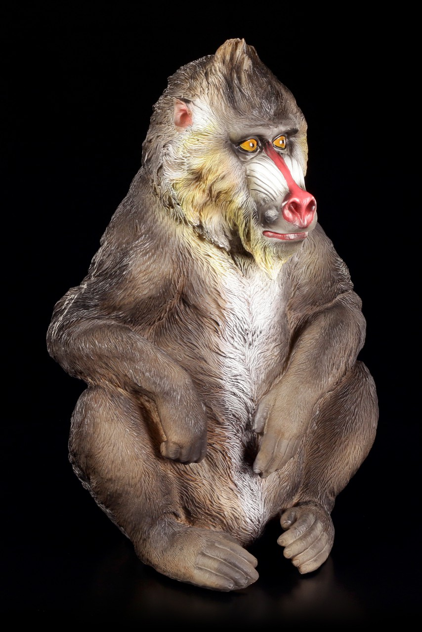 Monkey Figurine - Mandrill Rafiki