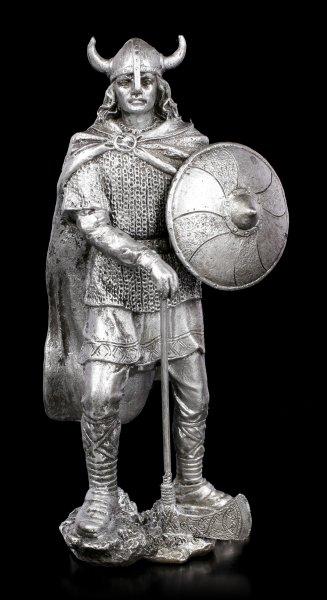 Zinn Wikinger Figur mit Rundschild
