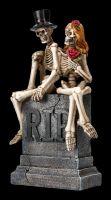 Skeleton Figurine - Lovers Wedding True Love Never Dies