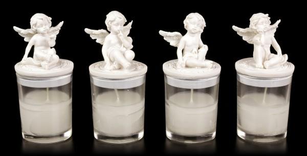 Engel Teelichter - Vier kleine Cherubim - 4er Set
