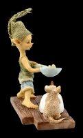 Pixie Kobold Figur - Popcorn über Kerze