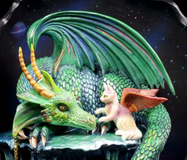 Drachen Figur - Time Dragon Emerald