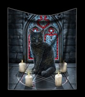 Kuscheldecke mit Katze - Sacred Circle