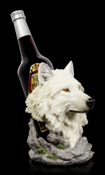 Wolf Head Bottle Holder - Snow Guide