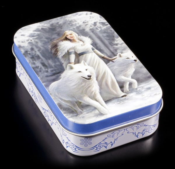 Metal Box with Wolf - Winter Guardians by Anne Stokes