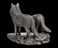 Wolf Figuren - Warriors of Winter - bronziert