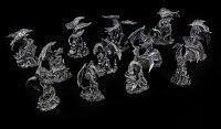 Dragon Figurines small - Black Set of 12
