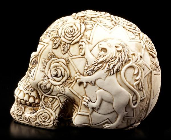 Tempelritter Totenkopf mit Löwenwappen