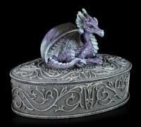 Oval Dragon Box purple