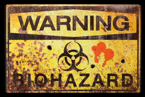 Metal Shield - Warning - Biohazard