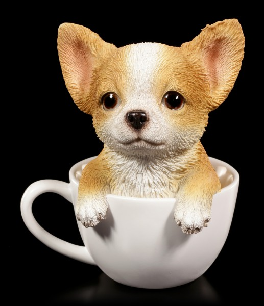 Dog Figurine - Chihuahua Teacup Pup