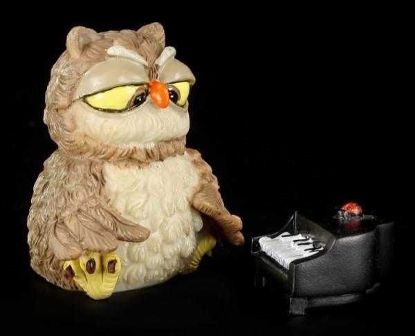 Pianist - Funny Owl Figurine