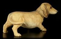 Garden Figurine - Brown Dachshund