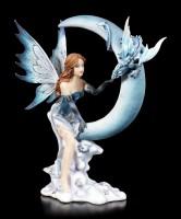 Fairy Figurine - Lunazura on Crescent Moon