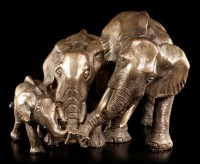 Elephant Figurine - Mother Father Child