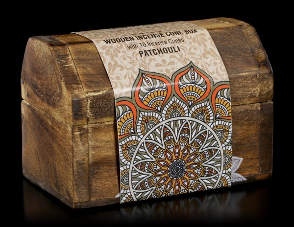 Wooden Incense Cone Box - Patchouli