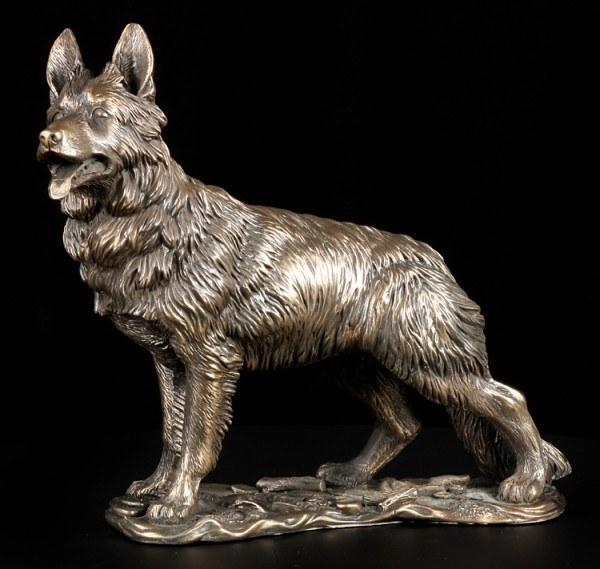 Dog Figurine - German Shepherd bronzed