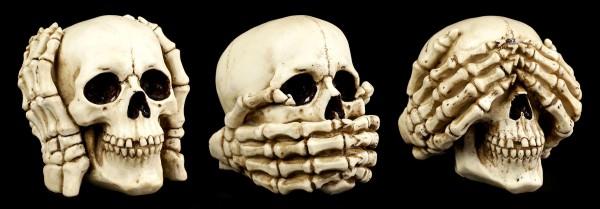 Skull Set of 3 - No Evil