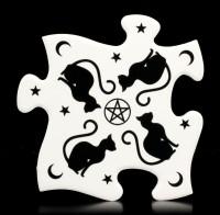 Alchemy Jigsaw Coaster Set - Black Cats