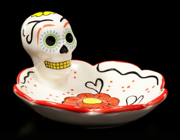 Totenkopf Schale - Day of the Dead - rot