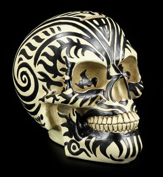 Totenkopf Spardose - Maori Ram