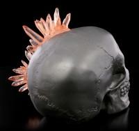 Totenkopf - Crystal Skull - granatfarben
