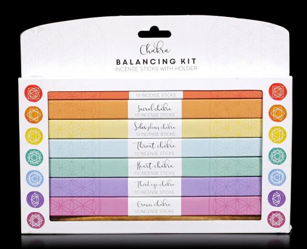 Chakra Räucherstäbchen - Balancing Kit
