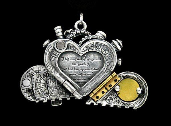 Alchemy Steampunk Halskette - Corvus Machina
