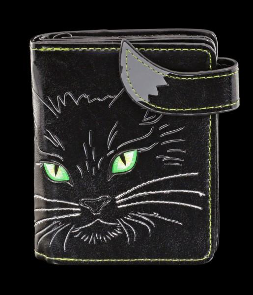 Kleine Geldbörse mit schwarzer Katze - Lucky Cat
