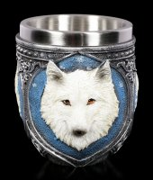 Drinking Cup - White Wolf