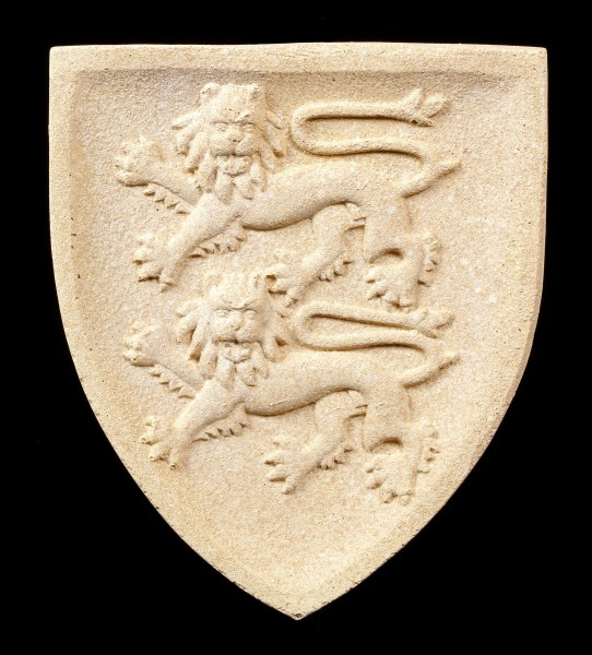 Ritter Wappen Wandrelief - Löwen Normandie