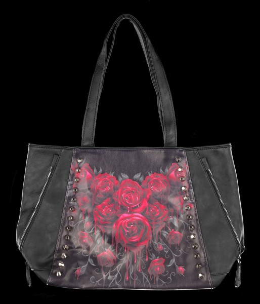 Faux Leather Bag - Blood Rose