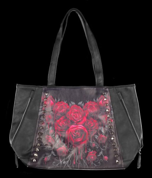 Kunstleder Tragetasche Rosen - Blood Rose