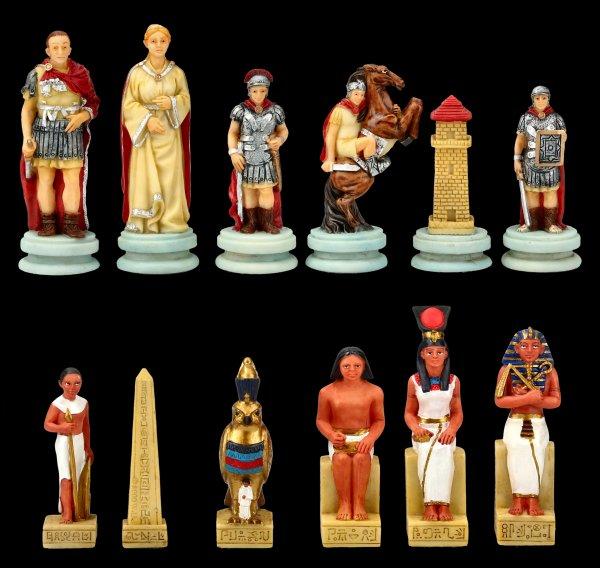 Schachfiguren Set - Ägypter vs. Römer