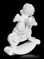 White Cherub Figurine on Hobbyhorse