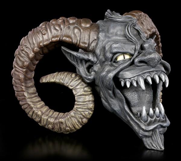 Teufelskopf mit Hörnern