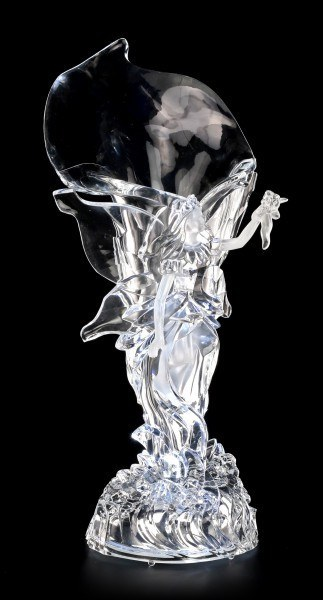 Acrylic Glass Fairy Vase LED - Tamesis with Bouquet