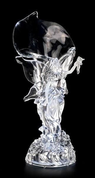 Acrylglas Elfen Vase LED - Tamesis mit Blumenstrauß